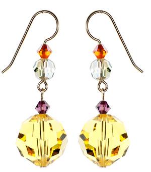 Yellow Light Topaz Earrings - City Nights