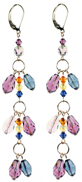 Double Drop Long Earrings  - City Nights