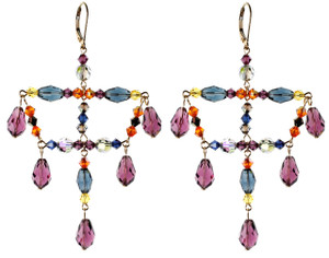 Chandelier Drop Earrings - City Nights