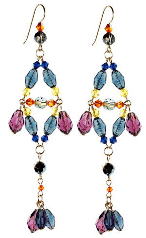 Divine Chandelier Earrings - City Nights
