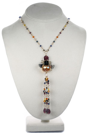 One of a Kind Crystal Necklace with Rare Swarovski and 14K gold filled