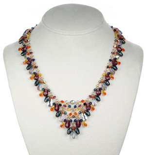Colorful Crystal Necklace made of Swarovski and 14K gold filled