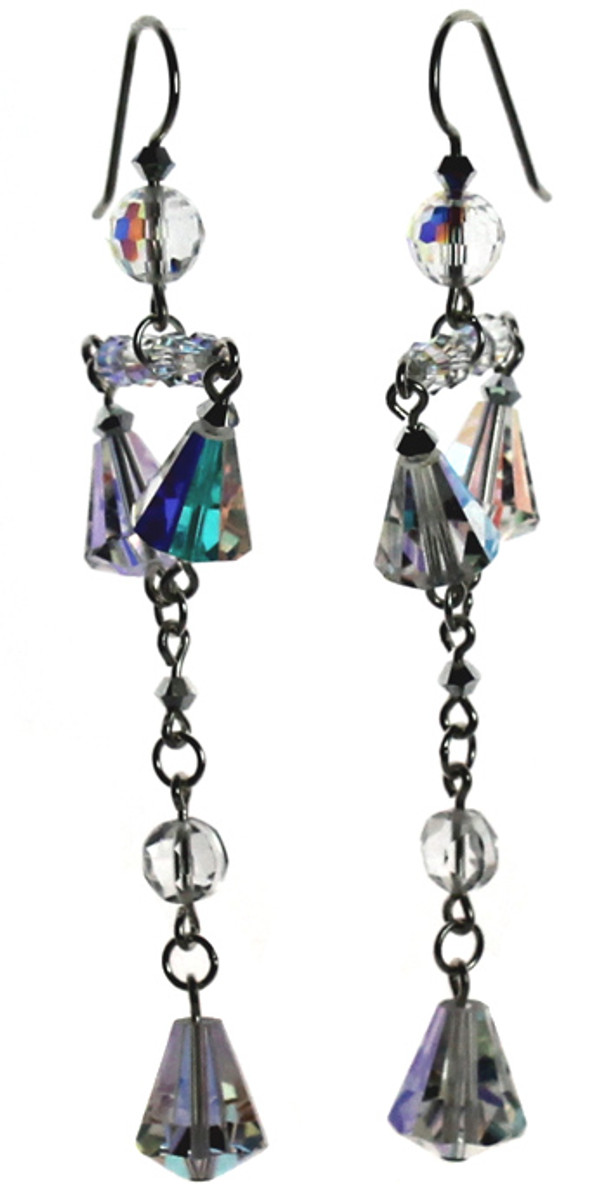 Elegant Bridal Earrings with Crystals from Swarovski