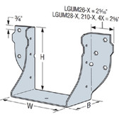 (10 Count) Simpson Strong-Tie LGUM26-2-SDS Girder Hanger Masonry With Screws 2-1/2 THD37400
