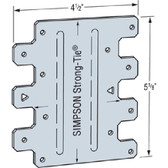 (100 Count) Simpson Strong-Tie LTP5  4-1/2 x 5-1/8-Inch Lateral Tie Plate