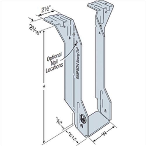 Simpson Strong-Tie 2-5//16 in Top Flange I-Joist Hanger MIT3516 x 16 in