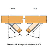 (12 Count) Simpson Strong-Tie HSUR414 4 x 14 Hanger Skewed Right