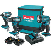 Makita CT320R 18V LXT Li-Ion Compact Cordless 3 Pc Combo Kit 2.0Ah