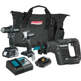 Makita CX300RB 18V LXT Li-Ion SubCompact Brushless Cordless 3 Pc Combo Kit 2.0Ah
