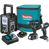 Makita CX301RB 18V LXT Li-Ion SubCompact Brushless Cordless 3 Pc Combo Kit 2.0Ah