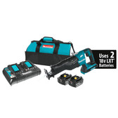 Makita XRJ06PT 18V X2 LXT Li-Ion Brushless Cordless Recipro Saw Kit 5.0Ah