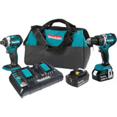 Makita XT275PT 18V LXT Li-Ion Brushless Cordless 2 Pc Combo Kit 5.0Ah