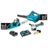 Makita XT276PTX 18V X2 LXT Li-Ion Brshlss Crdlss 2Pc Combo Kit 5.0Ah and Brushless Angle Grinder
