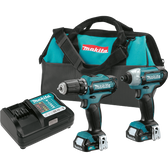 Makita CT226 12V Max CXT Li-Ion Cordless 2 Pc. FD05Z DT03Z Combo Kit FD05Z DT03Z 1.5Ah