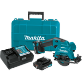 "Makita SH02R1 12V Max CXT Li-Ion Cordless 3-3/8"" Circular Saw Kit Case (2.0Ah)"