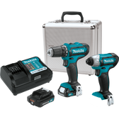 Makita CT226RX 12V Max CXT Li-Ion Cordless 2 Pc Combo Kit FD05Z DT03Z 2.0Ah