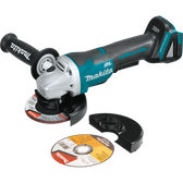 "Makita XAG11Z 18V LXT Li-Ion Brushless Cordless 4-1/2""/ 5"" Paddle Switch Cut-Off/Angle Grinder Tool Only"