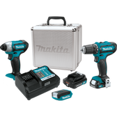 Makita CT321RX 12V Max CXT Li-Ion Cordless 3 Pc Combo Kit FD05Z DT03Z ML103 2.0Ah