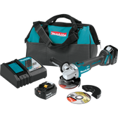 "Makita XAG04T 18V LXT Li-Ion Brushless Cordless 4-1/2"" / 5"" Cut-Off/Angle Grinder Kit 5.0Ah"