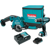 Makita CT227R 12V Max CXT Li-Ion Cordless 2 Pc Combo Kit FD05Z SH02Z (2.0Ah)