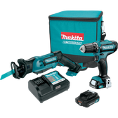 Makita CT229R 12V Max CXT Li-Ion Cordless 2 Pc Combo Kit FD05Z RJ03Z (2.0Ah)