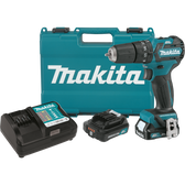 "Makita PH05R1 12V Max CXT Li-Ion Brushless Cordless 3/8"" Hammer Driver-Drill Kit 2 Spd Var Spd LED Light case 2.0Ah"