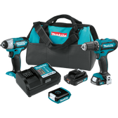Makita CT323 12V Max CXT Li-Ion Cordless 3 Pc. Combo Kit FD05Z WT02Z ML103 Case (1.5Ah)