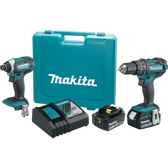 Makita XT261M 18V LXT Li-Ion Cordless 2 Pc. Combo Kit XPH10Z XDT11Z Case (4.0Ah)
