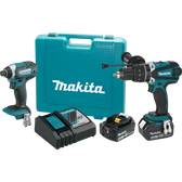 Makita XT263M 18V LXT Li-Ion Cordless 2 Pc. Combo Kit XPH03Z XDT11Z Case (4.0Ah)