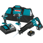 Makita XT328M 18V LXT Li-Ion Brushless Cordless 3 Pc Combo Kit 4.0Ah