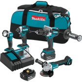 Makita XT451T 18V LXT Li-Ion Brushles Cordless 4 Pc Combo Kit 5.0Ah