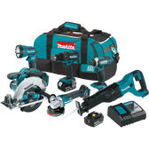 Makita XT610 18V LXT Li-Ion Cordless 6 Pc Combo Kit 3.0Ah