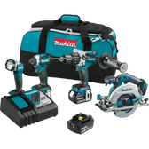 Makita XT449T 18V LXT Li-Ion Brushless Cordless 4 Pc Combo Kit 5.0Ah