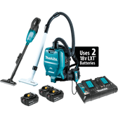 Makita XT278PTX1 18V LXT Li-Ion Cordless 2-Pc. Vacuum Combo Kit 5.0Ah