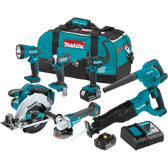 Makita XT706 18V LXT Li-Ion Cordless 7 Pc Combo Kit 3.0Ah