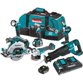 Makita XT611PT 18V LXT Li-Ion Brushless Cordless 6 Pc Combo Kit 5.0Ah