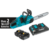 "Makita XCU04PT 18V X2 LXT Li-Ion Brushless Cordless 16"" Chain Saw Kit 5.0Ah"