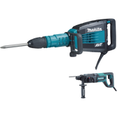 "Makita HM1214CX 27Lb AVT Demolition Hammer Accepts SDS-MAX Bits & 1"" Rotary Hammer"