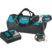 "Makita XWT041X 18V LXT Li-Ion Crdlss 1/2"" Sq Dr Impact Wrench Kit 3.0Ah"