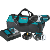 "Makita XWT04TX 18V LXT Li-Ion Cordless 1/2"" Sq Dr Impact Wrench Kit 5.0Ah"