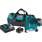 "Makita XTS01T 18V LXT Li-Ion Cordless 3/8"" Crown Stapler Kit 5.0Ah"