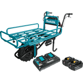 Makita XUC01PTX2 18V X2 LXT Li-Ion Brshlss Crdlss Power-Assisted Flat Dolly Kit 5.0Ah