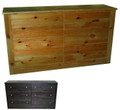 Union 6 drawer Dresser