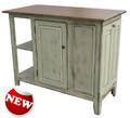 Seen in Antique White with Vintage rub and Classic Stain maple top