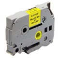 Compatible Brother TZe-621 Laminated Label Tape (9mm Black On Yellow)