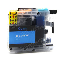 Compatible LC663C Cyan Ink Cartridge for Brother Printers
