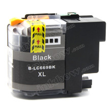 Compatible LC669XL-BK Black Ink Cartridge for Brother Printers (High Yield)