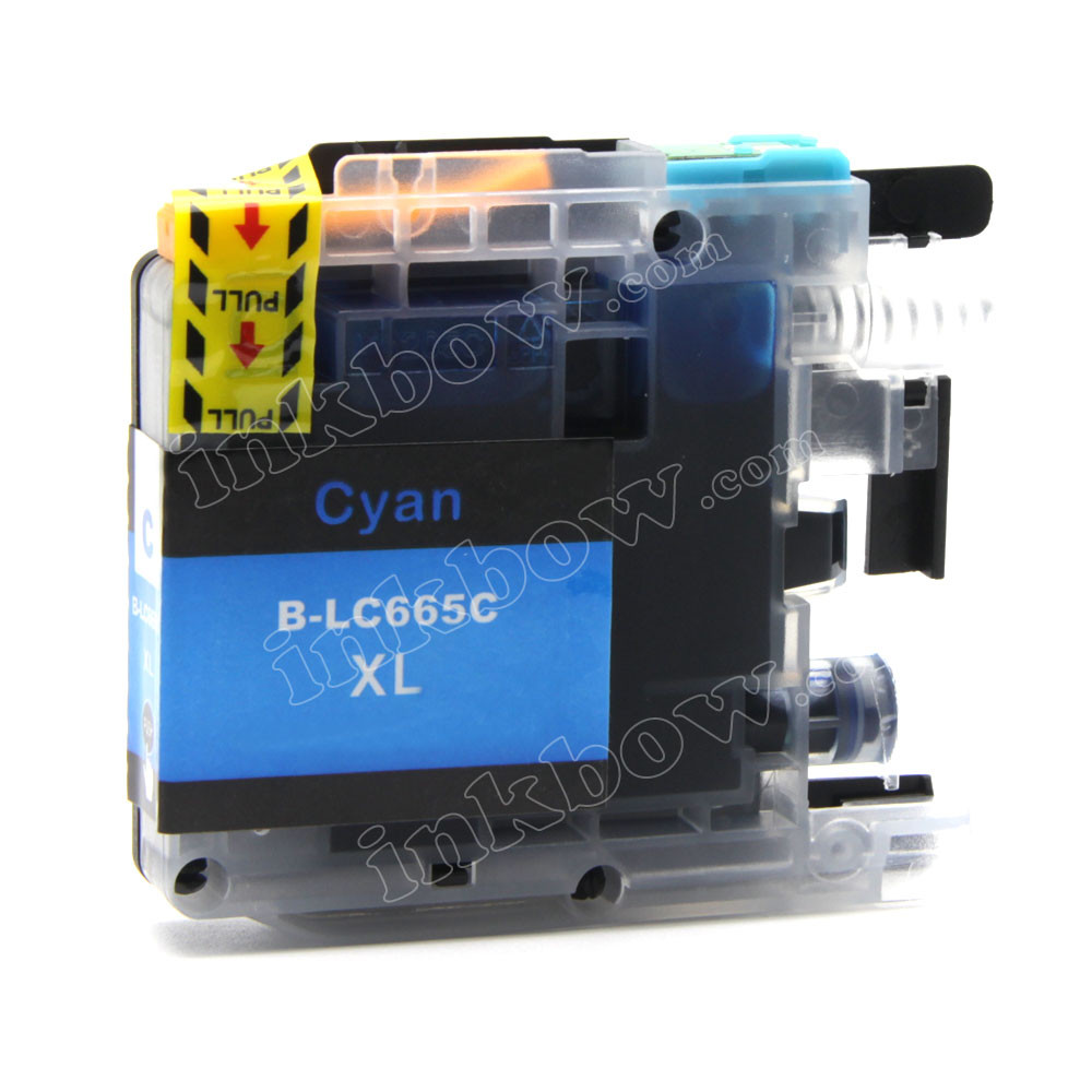 Compatible Lc665xl C Cyan Ink Cartridge For Brother Printer High Yield