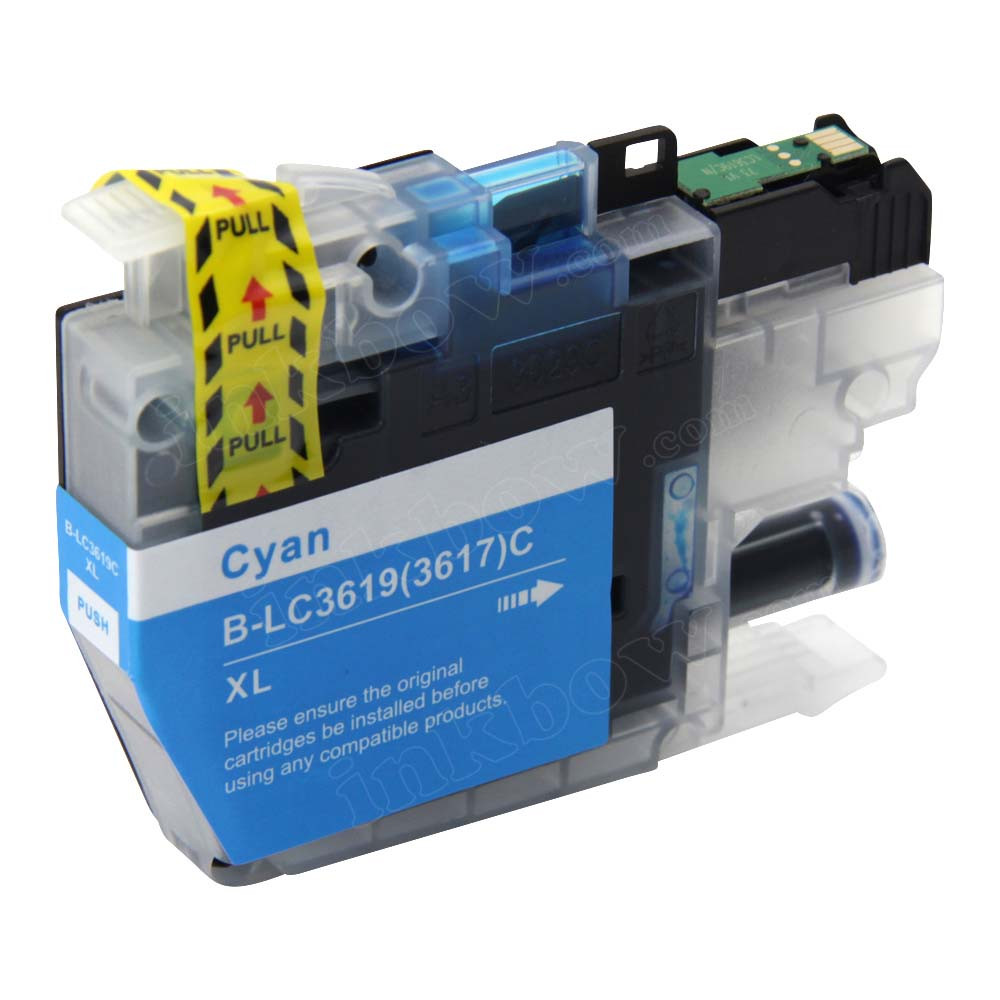 Compatible Lc3619xl C Cyan Ink Cartridge For Brother Printer High Yield