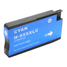 Compatible 955XL Cyan (LOS63AA) High Yield Ink Cartridge for HP Printer